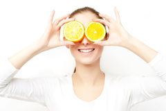 Orange fun Royalty Free Stock Photography