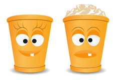Orange fun recycle bins Stock Images