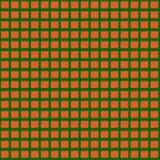 Orange funkt auf einem grünen Hintergrund Nahtloses Muster Lizenzfreie Stockbilder