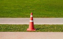 Orange funnel on the green grass Stock Photo