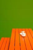 Orange furniture Stock Images