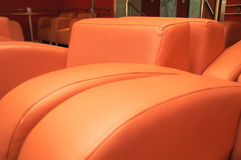 Orange furniture Stock Images