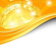 Orange futuristic background - energy Stock Photography