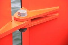 Orange gångjärn Arkivbild