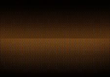 Orange galvanischer Metallüberzug Stockbild