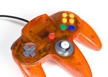 Orange Game Controller Close-up. Video game controller Royalty Free Stock Images