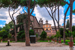 Orange Garden on the Aventine Hill in Rome Stock Photos