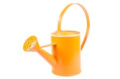 Orange garden watering can isolated on white background Stock Image