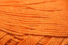 orange garn arkivfoto