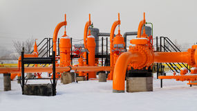 Orange gas pipe Royalty Free Stock Photo