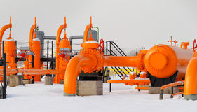 Orange gas pipe Stock Photography