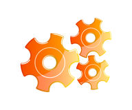 Orange gears Royalty Free Stock Photo