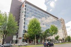 Orange Gebäude Stockfoto