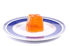 Orange gelatin Royalty Free Stock Image