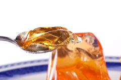 Orange gelatin Royalty Free Stock Photos