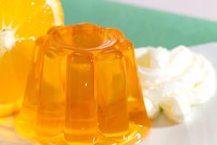 Orange gelatin Royalty Free Stock Photography