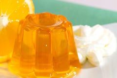 Orange gelatin Royalty Free Stock Photography