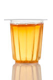 Orange gelatin cup Stock Images