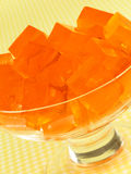 Orange Gelatin Dessert Royalty Free Stock Photography