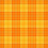 Orange Gelb-Plaid Lizenzfreie Stockbilder