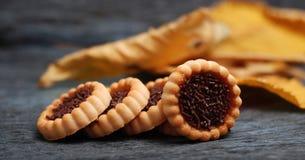 Orange Gelee bisquits, Plätzchen Stockfotos