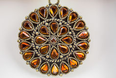 Orange Gem Necklace Stock Images