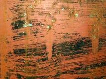 Orange gemaltes Metall stockfotografie