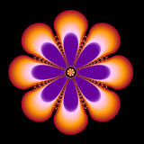 Orange Gems. An orange and purple circular fractal with gem like details Royalty Free Stock Photos