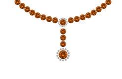 Orange Gemstone Design Charts Royalty Free Stock Photo