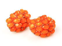 Orange Gemstone Earrings Stock Photo