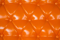 Orange  genuine leather Stock Images