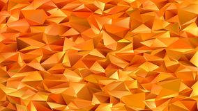 Orange geometric abstract chaotic triangle pattern background - mosaic vector graphic design from colored triangles Stock Images