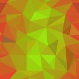 Orange geometric pattern. Seamless texture of orange triangles Stock Photography