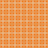 Orange geometric seamless pattern. For web, textile and wallpapers Stock Photography