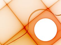 Orange geometric template Royalty Free Stock Image