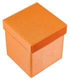 Orange Geschenkkasten Lizenzfreie Stockfotos