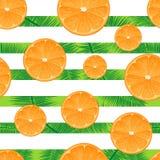 Orange gestreifter Hintergrund Nahtloser Vektor Kopieren Sie Raum Stockbild