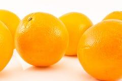 Orange getrennt Stockfotos
