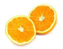 Orange getrennt auf einem Weiß Lizenzfreie Stockfotografie