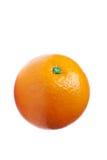 Orange getrennt auf weißem Hintergrund Stockbilder
