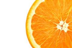 Orange getrennt auf weißem Hintergrund Stockfotografie
