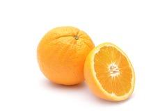 Orange getrennt auf weißem Hintergrund Stockfoto