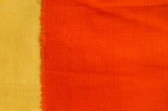 Orange Gewebebeschaffenheit Lizenzfreie Stockfotografie