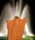 Orange ghost. Halloween ghost Royalty Free Stock Photography