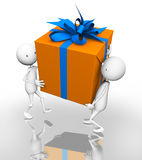 Orange gift Royalty Free Stock Photography
