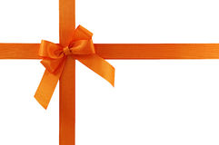 Orange gift bow Royalty Free Stock Images