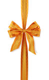 Orange gift bow Stock Photography