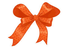 Orange gift bow Royalty Free Stock Photography