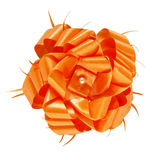Orange gift bow isolated Royalty Free Stock Image