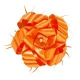 Orange Gift Bow Isolated Royalty Free Stock Image